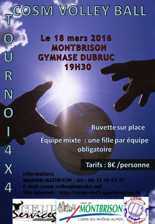 Tournoi volley 4x4 mixte MONTBRISON